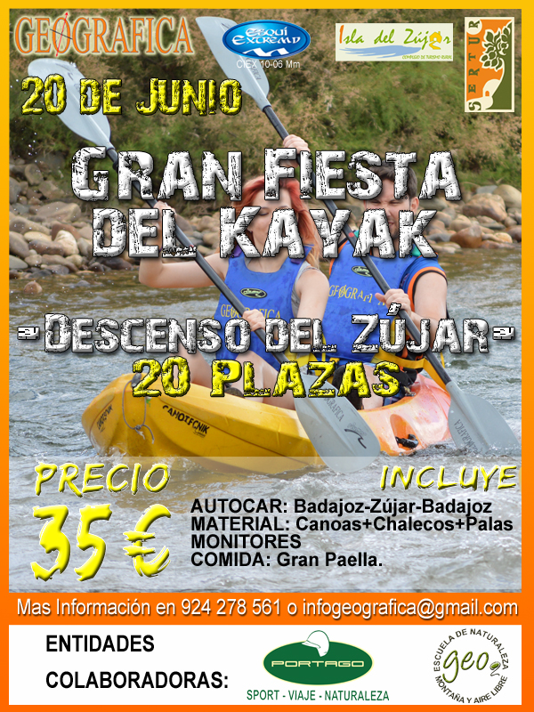 Cartel Descenso Zujar 2015_Portago