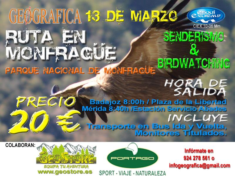 Cartel Ruta Facebook Monfrague 2016 Portago