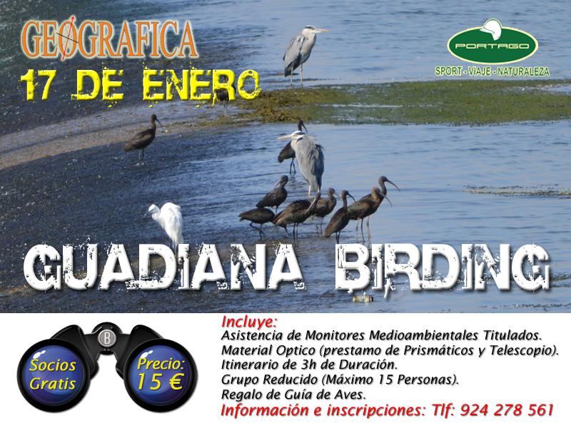 Cartel Ruta Guadiana Birding 2016