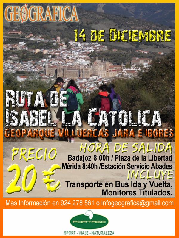 Ruta Portago Badajoz actividades