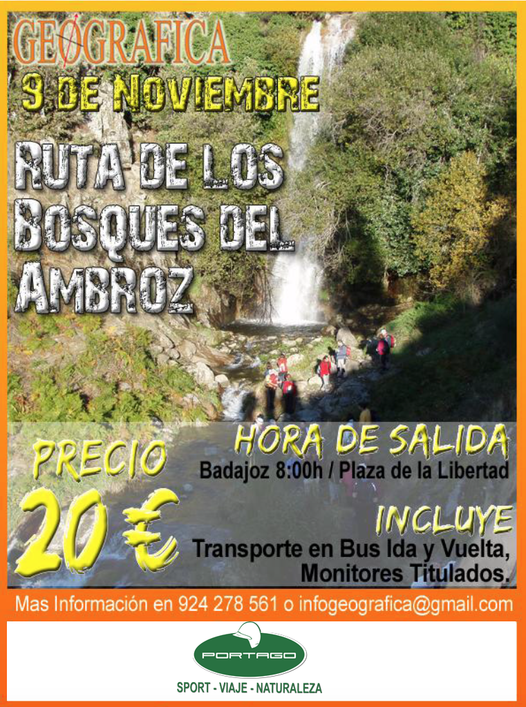 ruta Bosques Ambroz Portago Badajoz